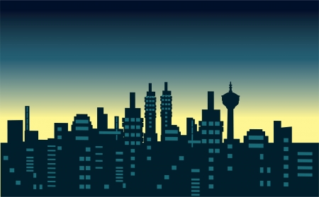city scape: cities silhouette icon