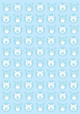 tile able: Orsacchiotti senza soluzione di continuit� sfondo blu