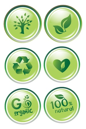 cleaning earth: Bio button set