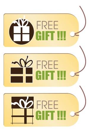 free gift: Free gift tag