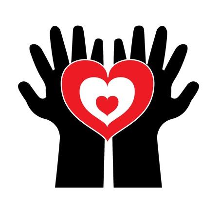 Menschen zu schützen und Liebe geben Vektorgrafik