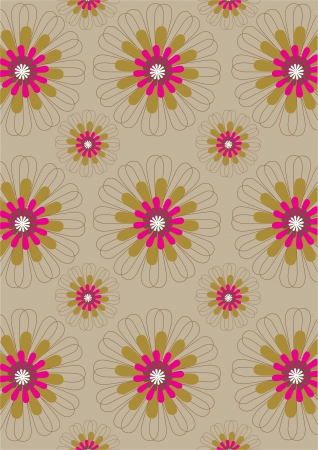 daisy wheel: Flower wallpaper Illustration