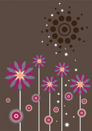 daisy wheel: flower graphic pattern