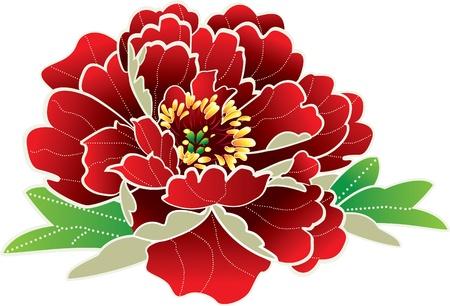flores chinas: Flor icono
