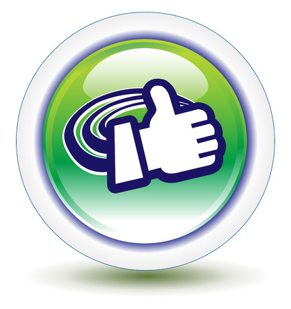 affirm: Hand Gestures Thumbs Icon