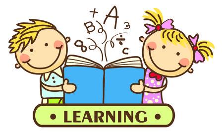 multicultural: Kids Learning Illustration