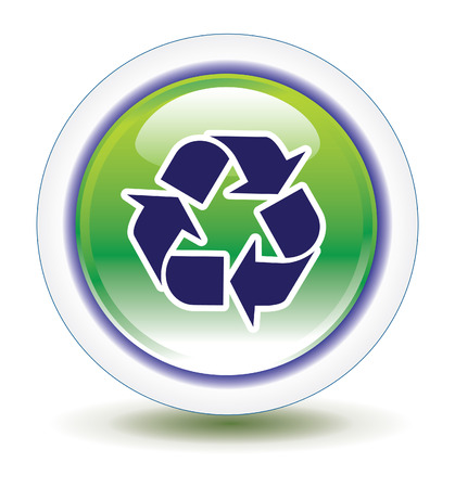 Save Download Preview Recycle Icon Vector