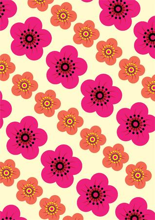 sumer: Seamless Flowers Pattern