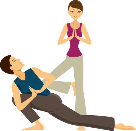 fitness instructor: Yoga Lotus Pattern