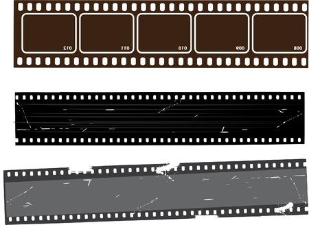 movie projector: Film Strip set Illustration