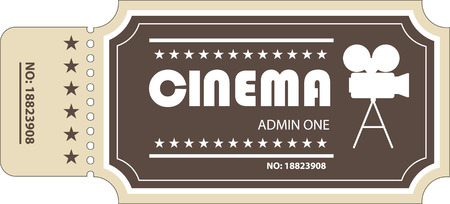 Cinema Ticket Иллюстрация