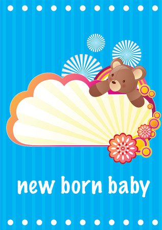 New Born Baby Greeting Card Иллюстрация