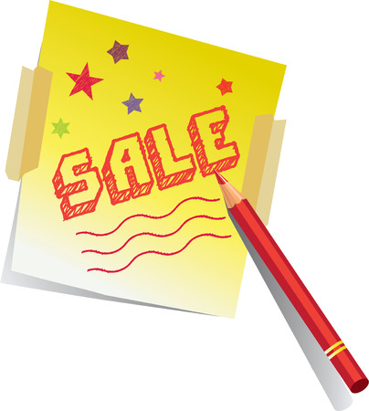 SALE Drawing Vector