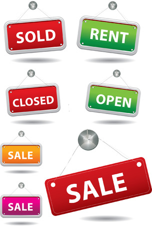 SALE, Sold, Closed Sign Vector