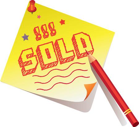 sold signs Ilustração