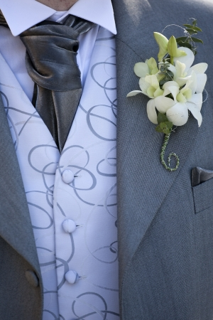 buttonhole: Groom at a Wedding with buttonhole