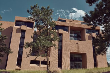 Boulder, Colorado - August 18th, 2019: Exterior of NCAR, National Center For Atmospheric Research designed by architect I.M. Pei