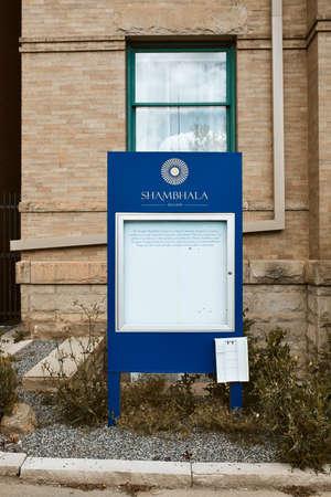 Boulder, Colorado - May 27th, 2020:  Entrance to Boulder Shambhala Center in Boulder