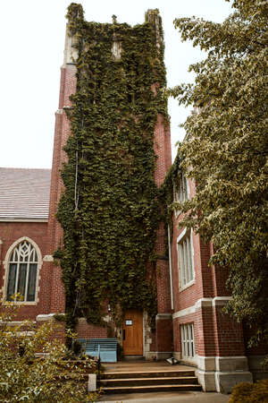 Boulder, Colorado - May 27th, 2020: Vine covered Pine Street Church in Boulder, Colorado 新闻类图片