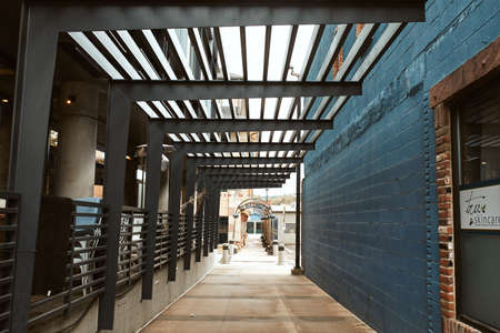 Boulder, Colorado - May 27th, 2020:  Corridor connecting Pearl Street Mall to Walnut street in Boulder, County