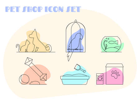 Icon set for a online pet shop