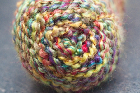 balls of yarn: Multi-coloured Wool