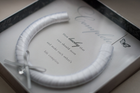 Wedding horseshoe for luck and congratulations