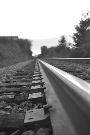 Railroad Tracks Banco de Imagens - 51035374