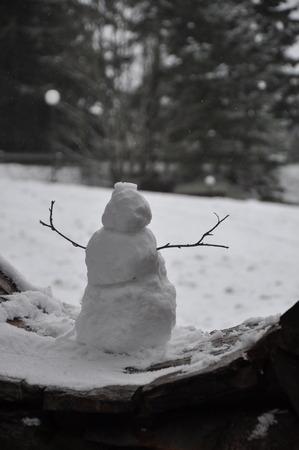 Snowman Reklamní fotografie
