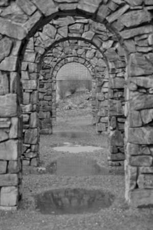 archways: Stone Archway Stock Photo