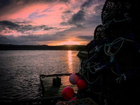 Sunset in Kinsale Stock Photo