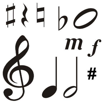 semibreve: Symbols Stock Photo