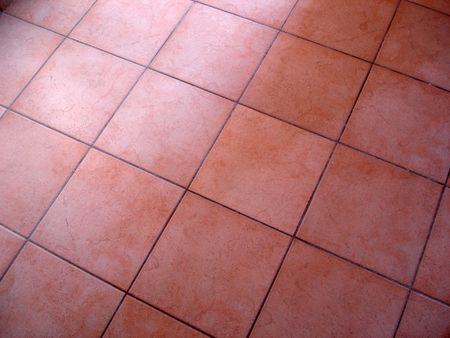 Tiled red flooring