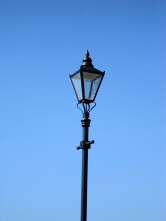 lamppost: Lamppost with sky background