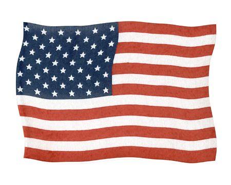 dependence: American Flag Design Stock Photo