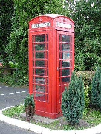 Red Phone Box in England photo