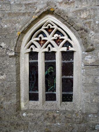 window church: Primo piano di una Chiesa Window Archivio Fotografico