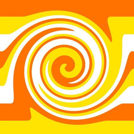 illustrates: Orange and Yellow Retro Background