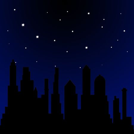 Stars shining in the sky at night Stock Photo
