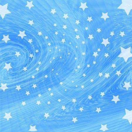 twisting: Blue twisting starry background