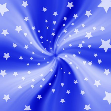 Blue twisting starry background