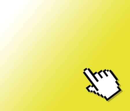 hand cursor on a yellow background Stock Photo - 298254
