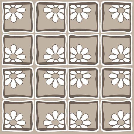 Springtime flowers - retro style