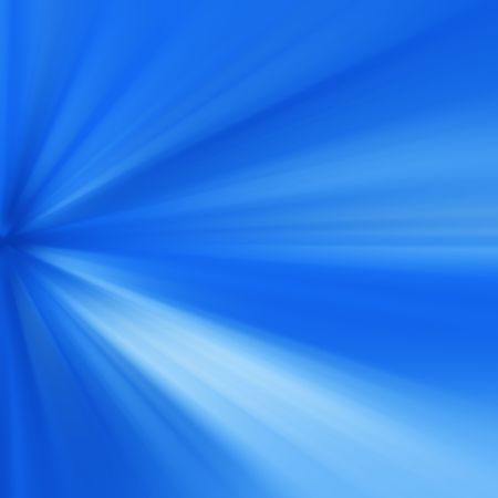 Abstract of blue rays of light Stock Photo