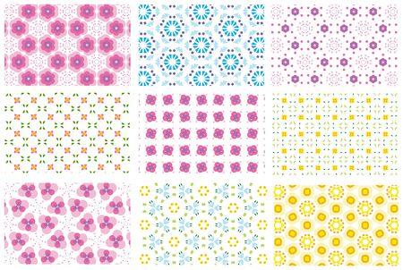 repeated: nine repeated pattern backgrounds