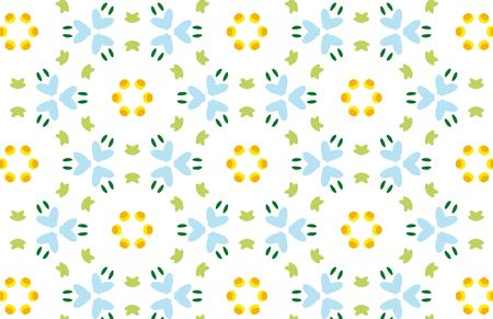 Repeated pattern - spring time background Banco de Imagens