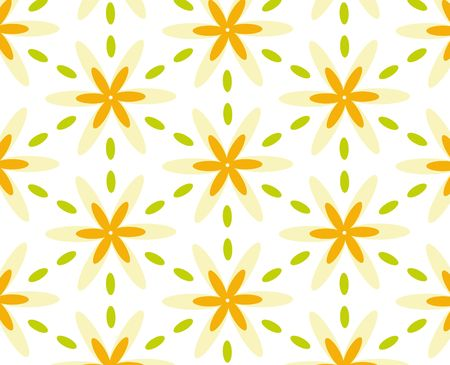 repeated: Repeated pattern - flower background Stock Photo