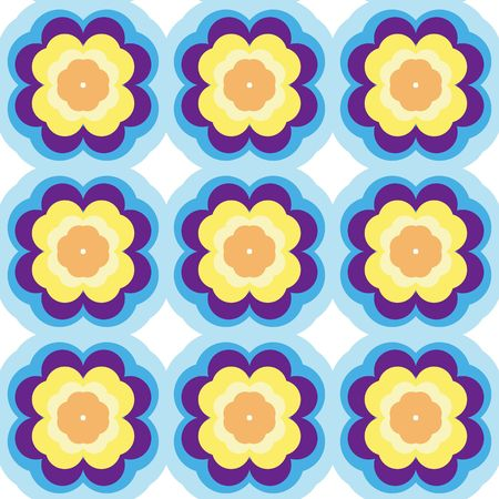 Repeated pattern - flower background Banco de Imagens