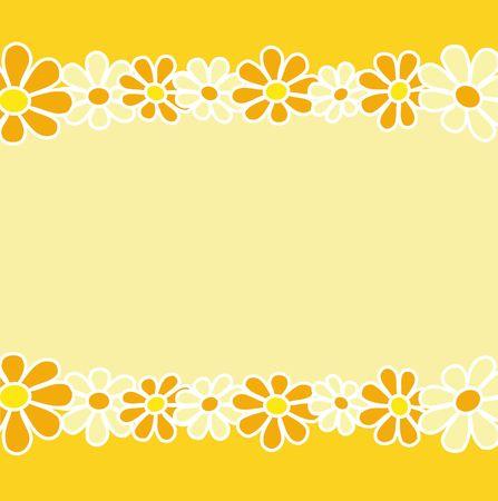 Retro style floral design