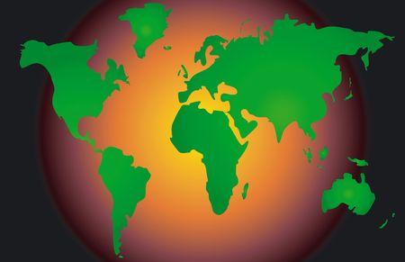Mapa conceptual - Calentamiento Global  Foto de archivo - 384269